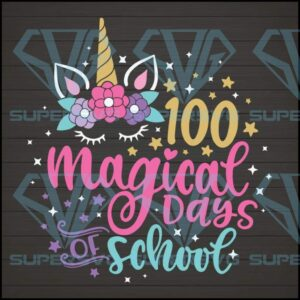 Magical days of school svg unicorn clipart