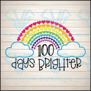 Days of school svg brighter hearts cut files for cricut png dxf