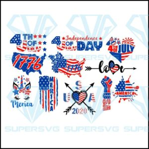 Designs bundle th july independence day of svg usa flag stars and stripes patriotic america