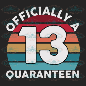 13th Birthday Officially a Quaranteen Teenager 13 Years Old Birthday svg BD04082020