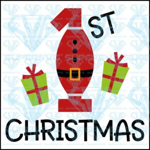 St christmas svg files for silhouette cricut dxf eps png instant download