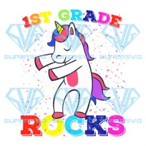 St grade rock unicorn svg bs