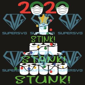 Stink stank stunk christmas tree svg cm