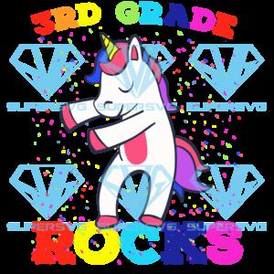 Rd grade rock unicorn svg bs