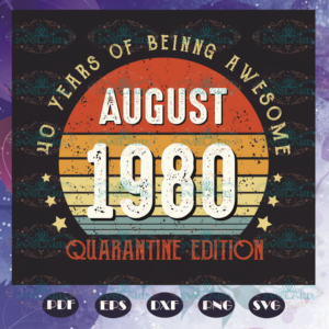 40 Years Of Being Awesome Svg BD110521TH14