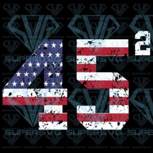 Squared trump second term usa svg files for silhouette cricut dxf eps png instant download