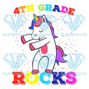 Th grade rock unicorn svg bs