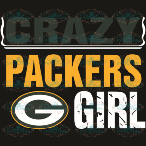 Green Bay Packers Crazy Girl Svg, Sport Svg, Crazy Girl Svg, Packers