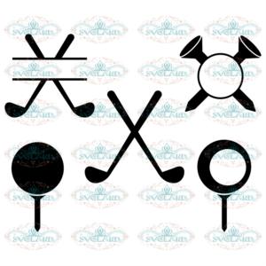 Golf Svg, Sport Svg, Golf Monogram Frame Svg, Golf svg, Monogram Svg,