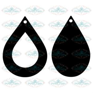 Earrings svg free, tear drop svg, earrings svg, digital download,