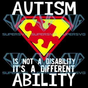 Autism is not a disability svg au