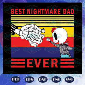 Best nightmare dad svg, fathers day gift, gift for papa, fathers day