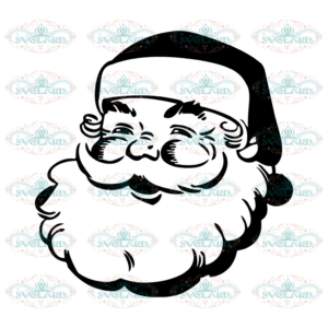 Funny Santa Face Christmas Svg, Christmas Svg, Father Christmas Svg,