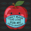 Can t Mask the Love for my First Graders Teacher Gift Premium 100th Days svg BS10082020