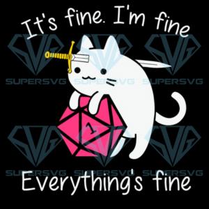 Cat hug dungeon its fine im fine everythings fine svg nd td