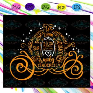 Cinderella pumpkin carriage SVG, Halloween svg, Halloween gift,