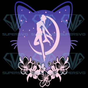 Cute moon cat and sailor anime svg an nd
