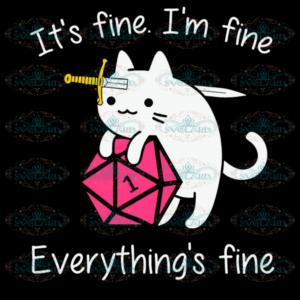 Cat Hug Dungeon Its Fine Im Fine Everythings Fine Svg ND280521TD02
