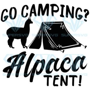 Go camping alpaca tent svg ca td