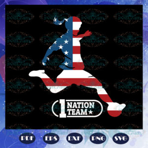 1 nation team, woman svg, independence day svg, happy 4th of july