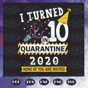I Turned 10 In Quarantine 2020 Svg BD110521TH13