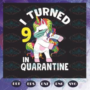 I Turned 9th In Quarantine Svg BD110521TH09