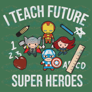 I teach future super heroes 100th Days svg BS06082020