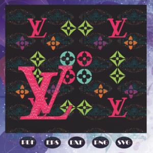 Louis Vuitton Logo Pattern Svg, Trending Svg, Lv Svg, Logo Louis Vuitton, Pattern Svg, Brand