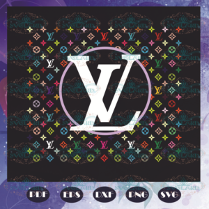 Louis Vuitton Pattern Logo Svg, Trending Svg, Lv Svg, Logo Louis Vuitton Svg, Pattern Svg