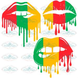 Dripping Lips Svg, Juneteenth Svg, Three Lips Svg, Emancipation