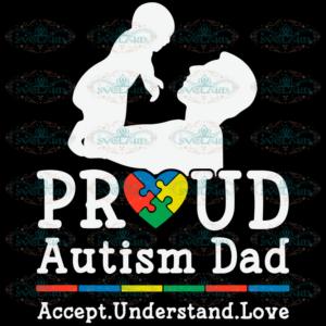 Proud Autism Dad SVG TD230421ND8
