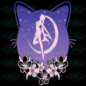 Cute Moon Cat And Sailor Anime Svg AN300421ND010