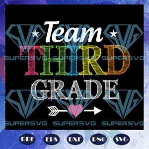 Team third grade rd grade svg bs