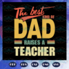 The best kind of dad raises a teacher fathers day svg BS2807202041