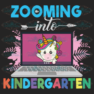 Unicorn Virtual Back To School Zooming Into Kindergarten 100th Days svg BS10082020