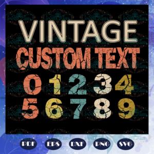 Vintage Custom Text Svg BS28072020