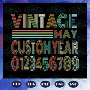 Vintage May Customyear Svg BS28072020