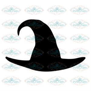 Witch hat svg free, halloween svg, hat svg, instant download, silhouette cameo