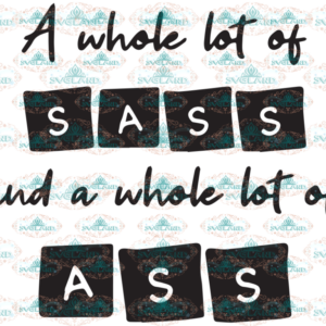 A whole sass and a whole lot of ass, ass svg, friend svg, gift