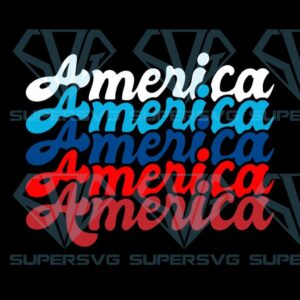 America svg png th of july cut files for silhoutte and cricut vintage retro dxf