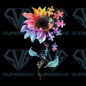 Autism flower be kind awareness png file instant download