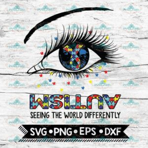 Autism Svg, Seeing the World Differently Svg, Eyes Svg, Cricut File,