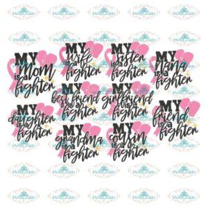 Breast Cancer Svg, Bundle, Awareness Svg, Cricut File, Cancer Svg,