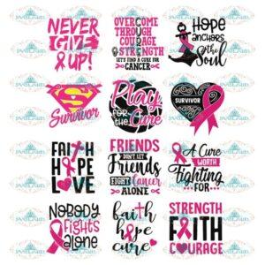 Breast Cancer Svg, Bundle, Cancer Awareness Svg, Cancer Ribbon Svg,