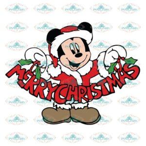 Mickey Mouse Santa with Word Christmas Svg, Cricut File, Christmas