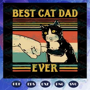 Best cat dad ever svg, cat dad svg, cat dad vintage svg, father
