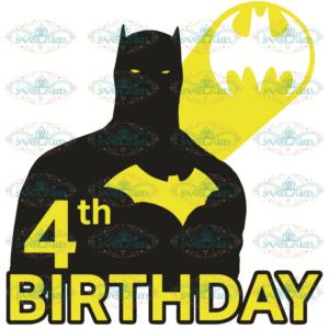 4th Birthday svg, Batman svg, Batman shirt, 4 years old svg, birthday boy svg