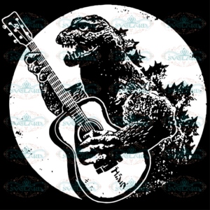 Godzilla Play Guitar Svg AN050421ND03