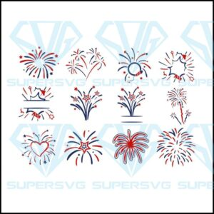 The fireworks svg monogram quotes bundle th of july dxf eps jpeg png format layered cutting files clipart die cut
