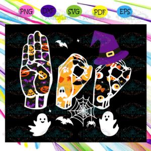 witch svg, Halloween svg, ASL boo halloween svg, Asl boo halloween,